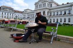 Un artist arădean a fost amendat pentru că a cântat pe stradă