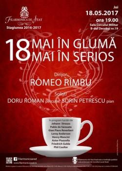 """""""18 mai în glumă, 18 mai în serios"""", Spectacol simfonic la Filarmonica din Arad"""