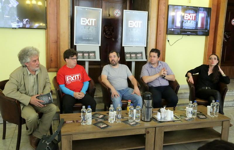 Conferința de presă prilejuită de premiera spectacolului EXIT