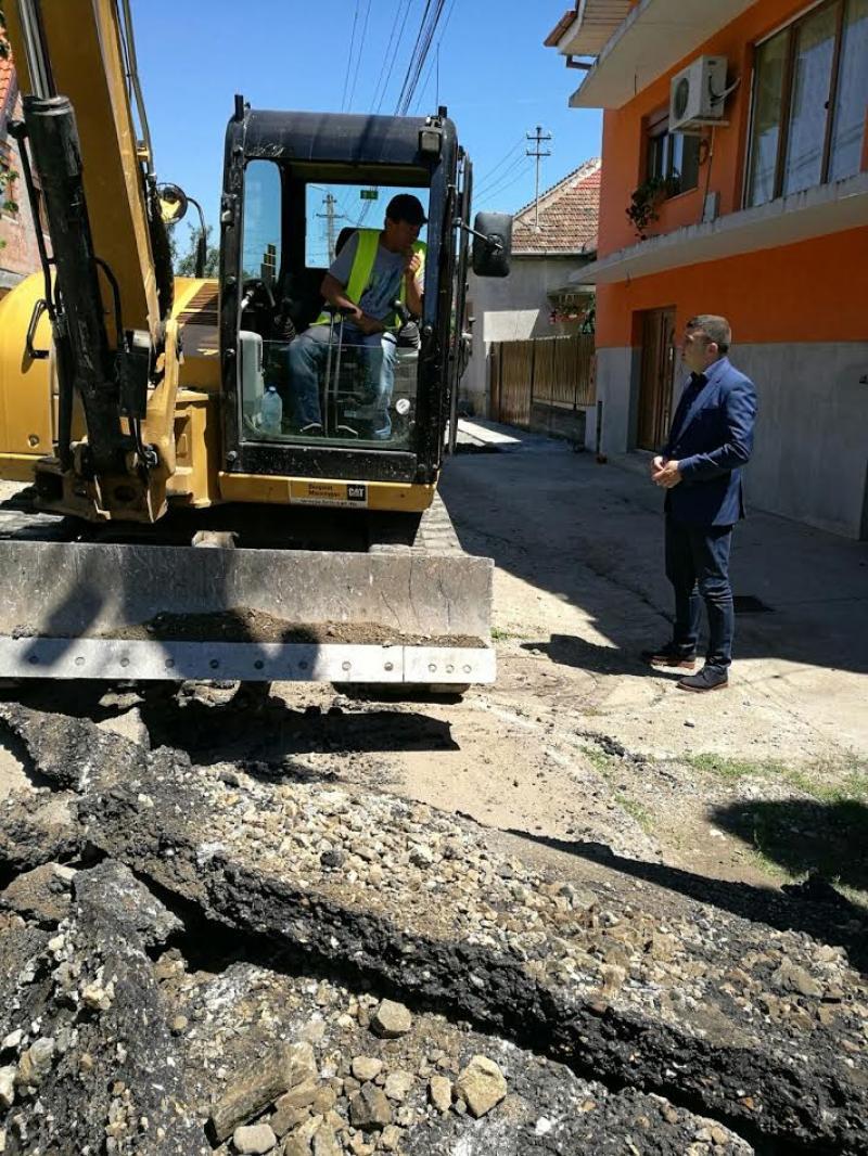 Sergiu Bîlcea a verificat lucrările străzilor din Arad