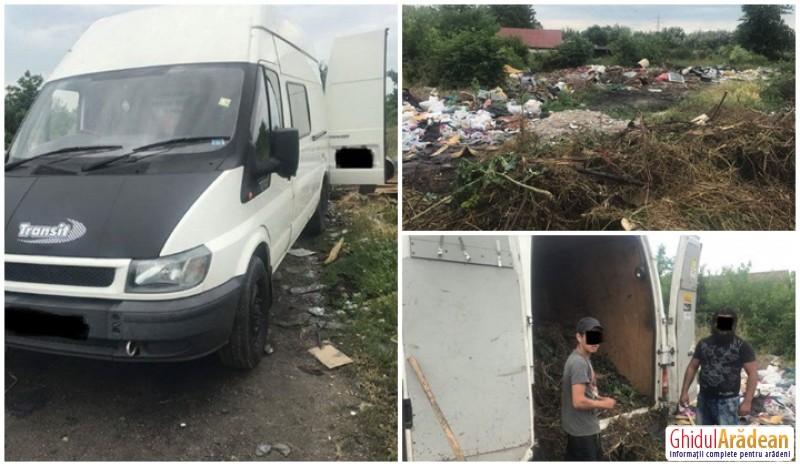 Un arădean a confundat strada Sibiului cu un coș de gunoi