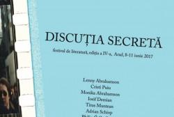 Discuția secretă, festivalul arădean de literatură, începe la Arad joi, 8 iunie