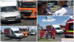 Accident în Micălaca, la ieşirea pe DN7