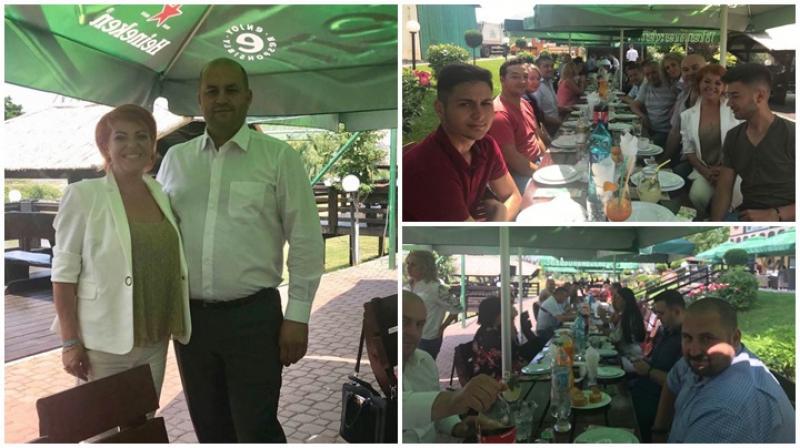 Chef de chef la Raţio Beach pe strand, plin de membri PSD în cinstea noului prefect