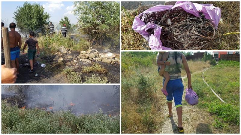 Inconștiența unei femei putea să se transforme într-o tragedie ! Incendiu în zona Confecții ! GALERIE FOTO