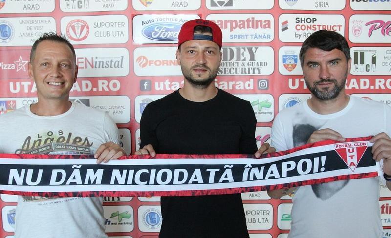 Cristian Scutaru este jucătorul UTA-ei