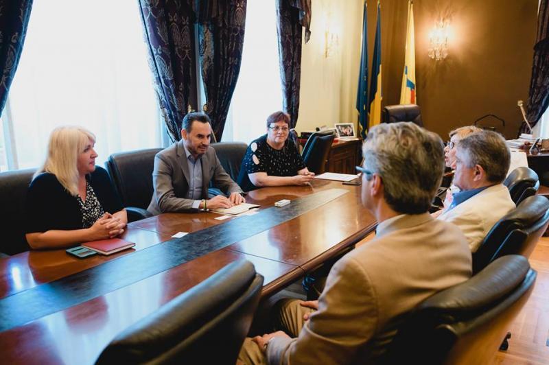 Delegaţia Universităţii Rutgers din New Jersey, în vizită la Palatul Administrativ