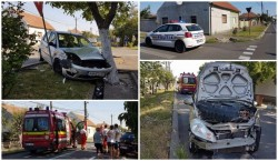Accident violent în intersecţia buclucaşă din cartierul Bujac (Galerie FOTO)