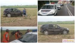 Accident grav la Pecica cu victime. A fost solicitat elicopterul SMURD! Doi jurnalişti agresaţi! FOTO
