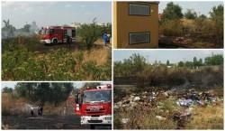 Breaking News: Pericol evitat la timp de pompierii arădeni! Flăcările s-au apropiat periculos de un depozit de combustibil!