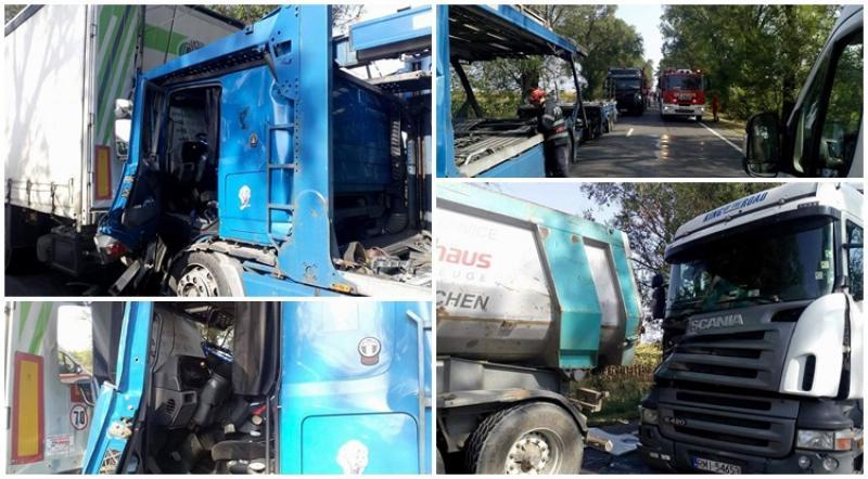 Trei TIR-uri implicate într-un accident  la Șimand !