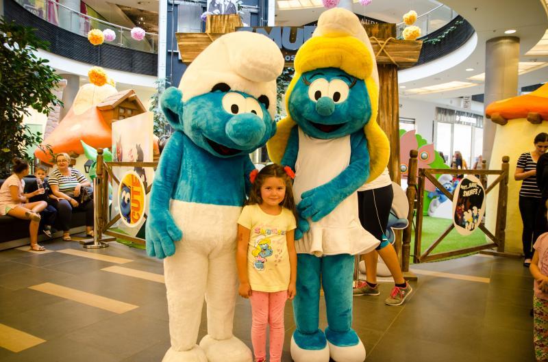 Strumpfii la Atrium Mall