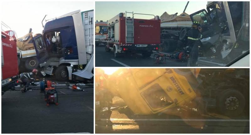 Accident MORTAL marți dimineața pe Autostrada ce leagă Timișoara de Arad ! [UPDATE Galerie FOTO]