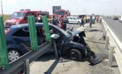 ACCIDENT pe Autostrada Soarelui ! O persoana încarcerată