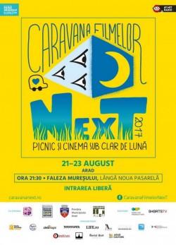 ZILELE ARADULUI 2017:  Caravana Filmelor NexT  - 16 scurt metraje în aer liber