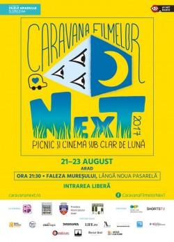 Caravana Filmelor NexT la Arad: 3 seri de picnic și cinema sub clar de lună, pe Faleza Mureșului
