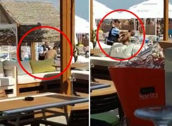 VIDEO-Şapte bărbaţi, arestaţi după ce Duminică, au atacat cu SABIA, un poliţist, pe o plajă din Mamaia