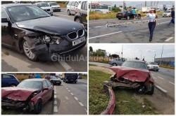 FOTO+VIDEO- Două BMW-uri s-au ciocnit violent în față la RAR !