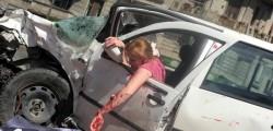 În urma unui ACCIDENT îngrozitor,mașina a fost făcută praf ! Femeia avea răni cumplite !