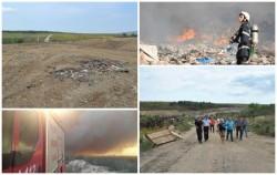 Incendiul de la groapa de gunoi Lipova a fost stins în totalitate