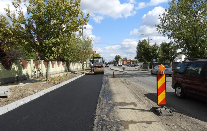 Lucrări de asfaltare pe Calea Bodrogului