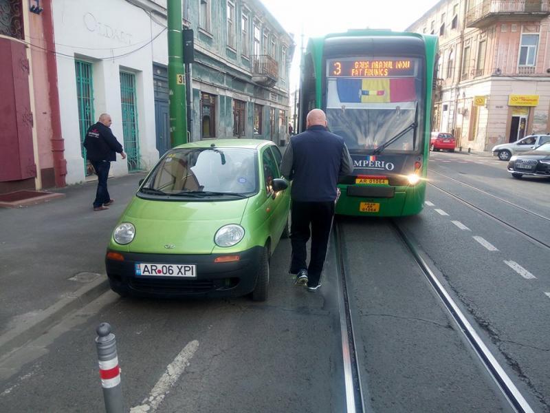 Circulaţia tramvaielor, paralizată din nou de un BIZON