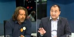 Bătaie în studioul B1TV! Senatorul Mihai Gonţiu lovit cu pumnii şi picioarele de sociologul Mirel Palada