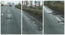 DN7 arată ca după bombardament! Unde e mătura magică a lui Vărcuş?!