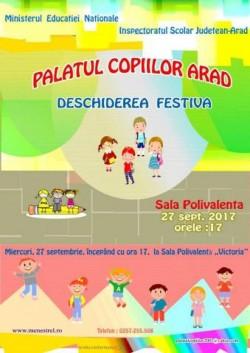 Porțile Palatului Copiilor se vor deschide miercuri 27 septembrie !