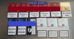 Țigări de contrabandă, depistate de polițiștii orașului Lipova