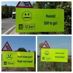 Drumuri mai ușoare, datorită unor indicatoare cu emoticoane !