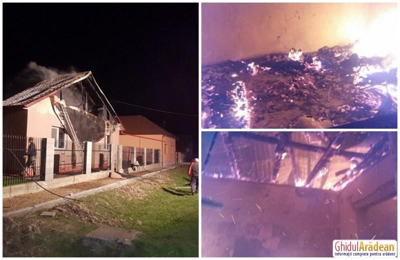 Drama unei familii din Sânmartin. Casa le-a ars ca o torţă din cauza coşului de fum!
