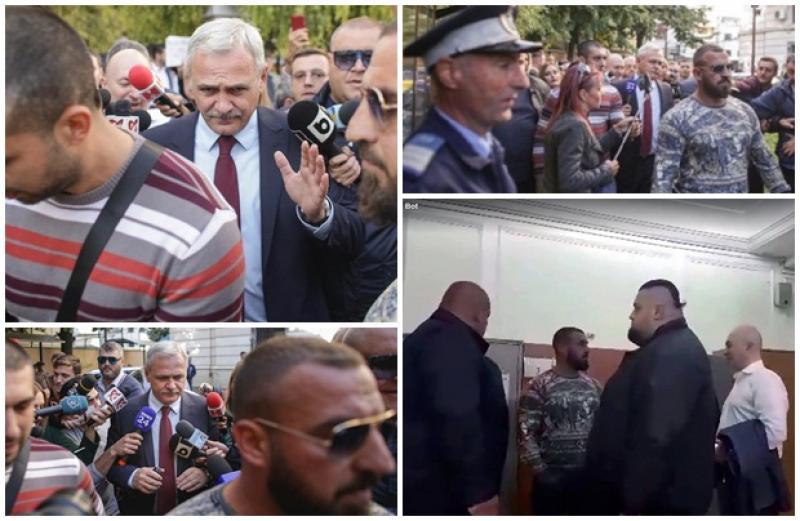Liviu Dragnea, apărat de interlopi în faţa instanţei! Un jurnalist a fost agresat de gorilele liderului PSD