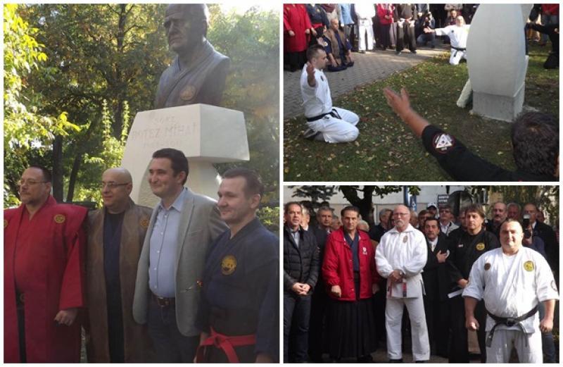 Momente emoționante la dezvelirea bustului celui care a fost Mihai Botez , părintele judo-ului din România
