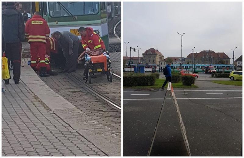 Un vârstnic a fost lovit de tramvai în zona gării