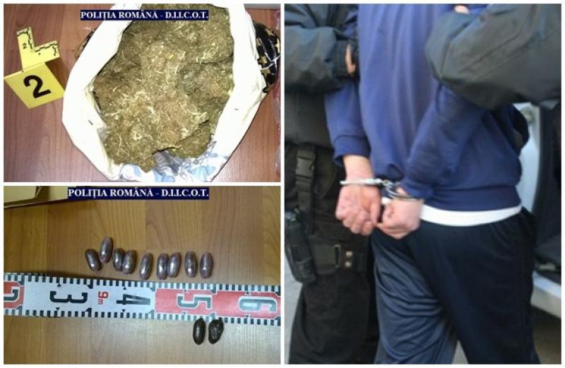 Are doar 20 de ani şi a fost prins cu o cantitate enormă de droguri asupra sa. Poliţiştii arădeni l-au arestat imediat!