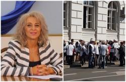 Prefectul Aradului Florentina Horgea, faţă în faţă cu primele proteste!