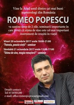 Vine la Arad, unul dintre cei mai buni numerologi din România ! Romeo Popescu te va învăța cum să câștigi în viață !