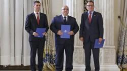 Alţi trei miniştri au depus jurământul azi după remanierea lui Tudose. Dragnea şi Tăriceanu au lipsit de la eveniment