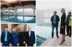 Preşedintele Federaţiei Române de Înot,  Camelia Potec, în vizită la Bazinul din Subcetate