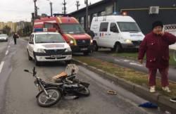 Accident rutier pe strada Poetului! Un bătrân de 74 de ani a fost transportat la spital