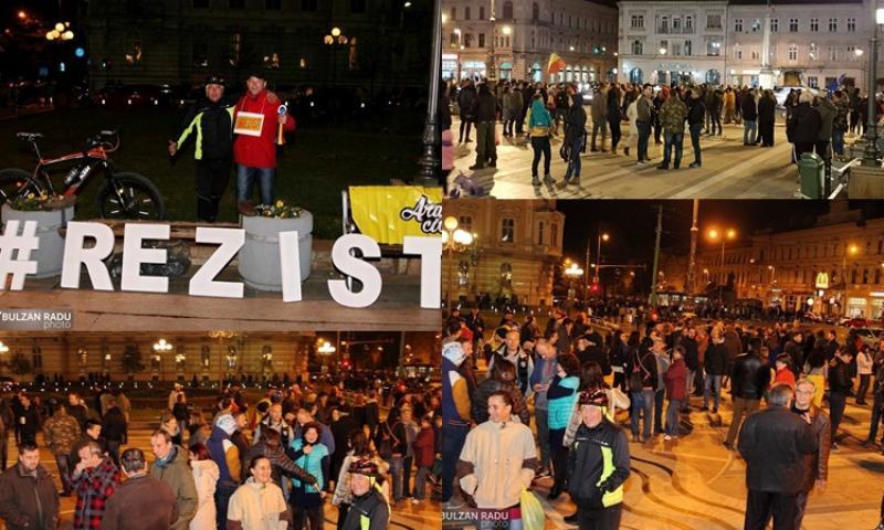 Zeci de mii de români în strada duminică seara, câteva sute şi în Arad (OPINII)