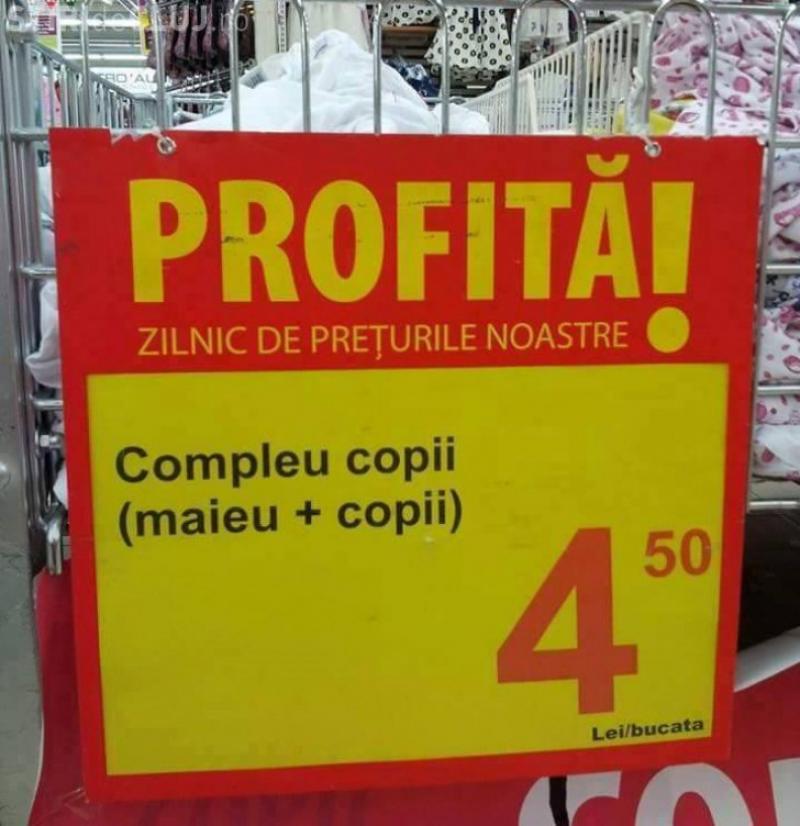 IMAGINI haioase cu etichetele de preţ din supermarketurile româneşti