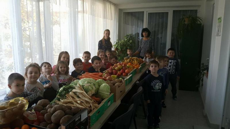 Micuții de la Grădinița P.P. Piticot din Arad sunt învățați de mici să dăruiască
