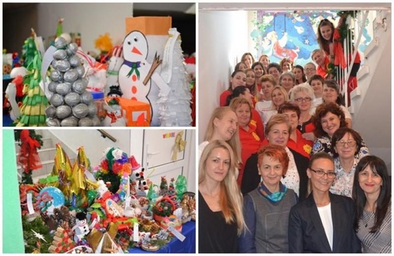 """Concurs internaţional de creaţie ,,ECO-FANTEZII DE CRĂCIUN"""" la ,,Grădiniţa Prieteniei"""" din Arad"""