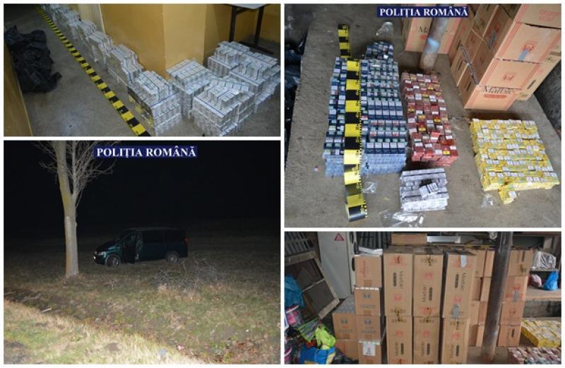 Captură RECORD de ţigări de contrabandă în Arad! Trei bărbaţi au fost reţinuţi după o urmărire ca în filme