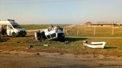 Accident grav la ieşirea din  Şiria