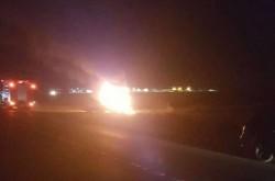 Cap Tractor în flăcări pe DN79, între Zimand şi Zimand Cuz