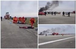 Simulare pe Aeroportul Internaţional din Arad! Accident aviatic cu incendiu, victime şi intervenţia ISU