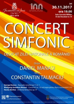 Concert dedicat Zilei Naționale a României la Filarmonica din Arad